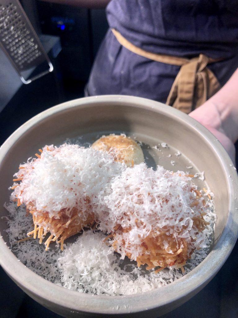 Parmesan croquettes, Benoli Italian restaurant, Norwich